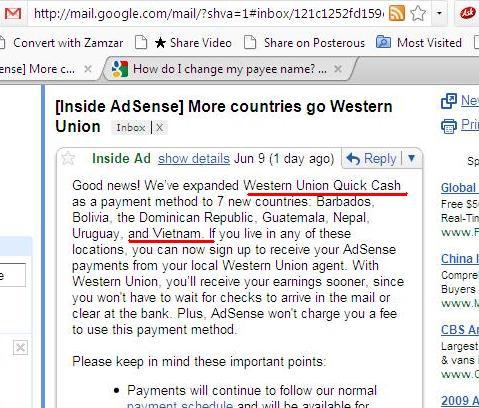 Adsense-VN-westernUnion